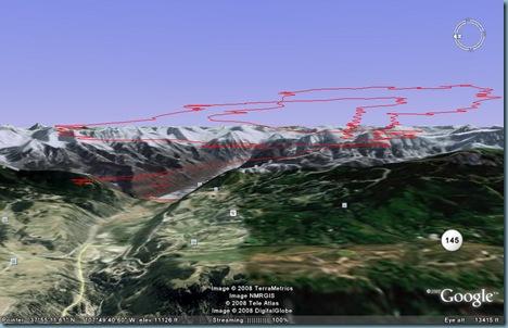 Telluride tracklog g.Earth2 8-14-2008