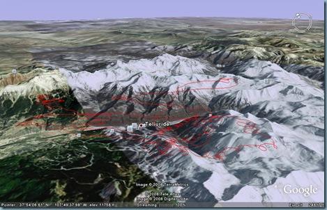 Telluride tracklog g.Earth3 8-14-2008